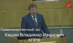 В.И. Кашин выступил на «правительственном часе» в Госдуме. Видео