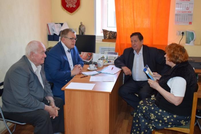 Депутат-коммунист Александр Наумов провел прием граждан городского округа Кашира