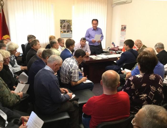 Прошло совещание первых секретарей МК КПРФ