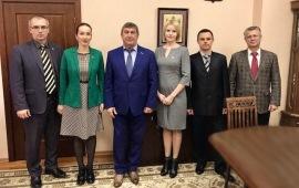 Рабочая встреча Константина Черемисова с делегацией Народного собрания ДНР
