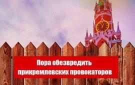 Пора обезвредить прикремлевских провокаторов