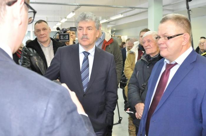 П.Н. Грудинин посетил предприятия Московской области