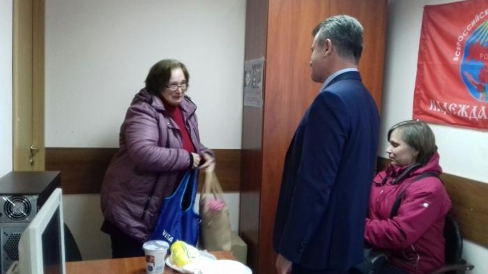Депутат Мособлдумы Василий Мельников провел прием жителей в Черноголовке