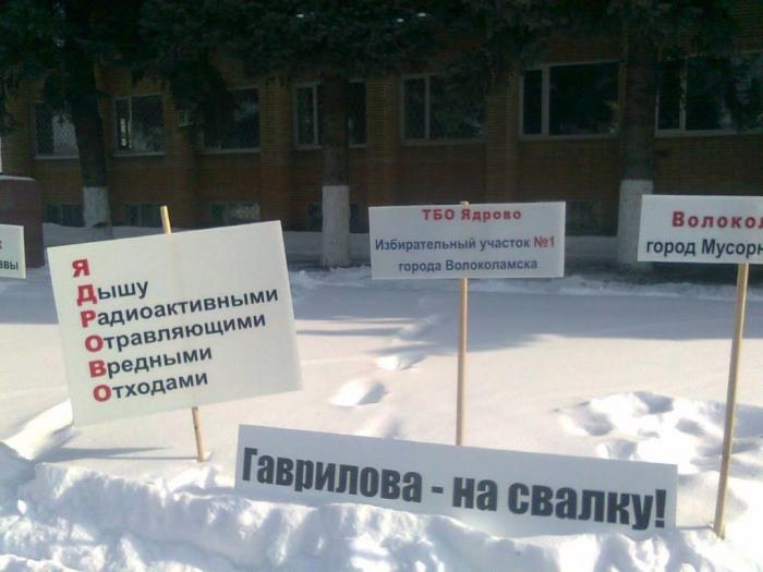 В подмосковном Волоколамске на митинг против свалки «Ядрово» вышли более 5000 человек