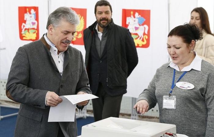 П.Н. Грудинин проголосовал на выборах Президента РФ