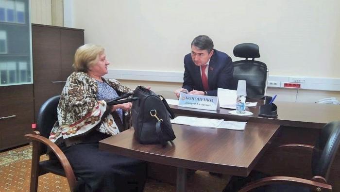 Депутат Мособлдумы Дмитрий Кононенко провел прием граждан