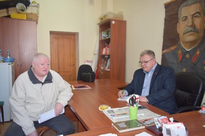 Депутат Мособлдумы Александр Наумов провёл приём жителей в городском округе Подольск