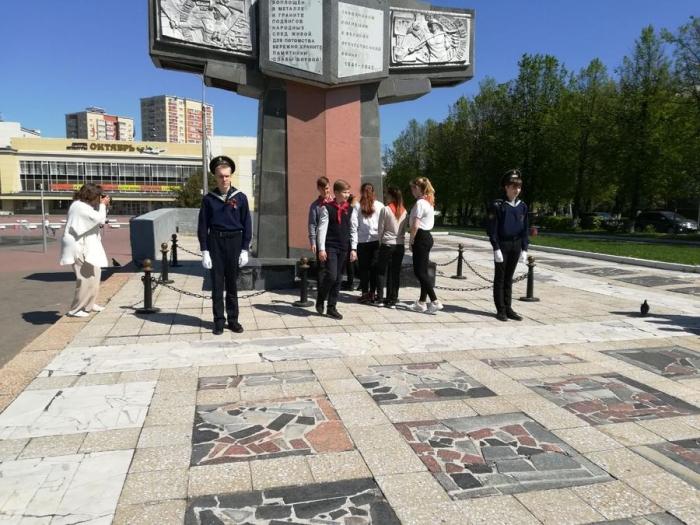 В подмосковном Подольске прошла пионерская линейка, посвященная Дню Победы