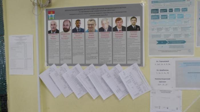 Нарушения на выборах в Мытищах