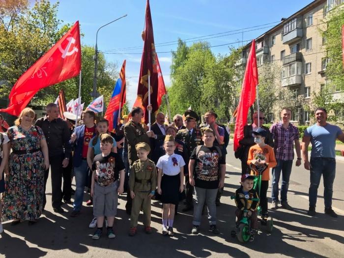 Щёлковские коммунисты поздравили ветеранов с Днём  Победы!