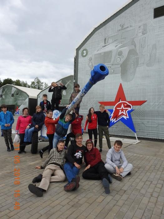 Подольские школьники посетили парк «Патриот»