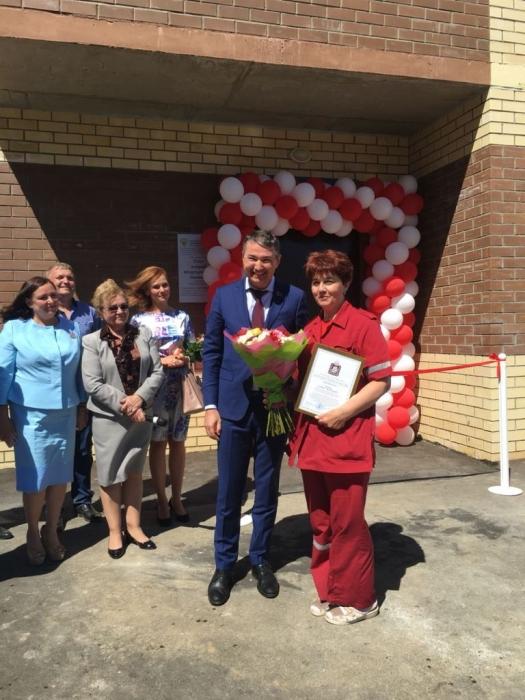 Дмитрий Кононенко принял участие в открытии поста скорой помощи в Дмитрове