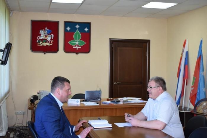 Депутат Мособлдумы, Секретарь МК КПРФ Александр Наумов встретился с Главой г.о. Пущино