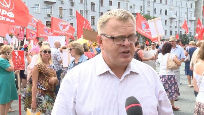 Александр Наумов: «Увеличение пенсионного возраста - это выкачивание денег из народа!»