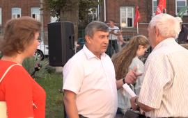 Кандидат на должность губернатора Подмосковья от КПРФ пообщался с жителями Лобни