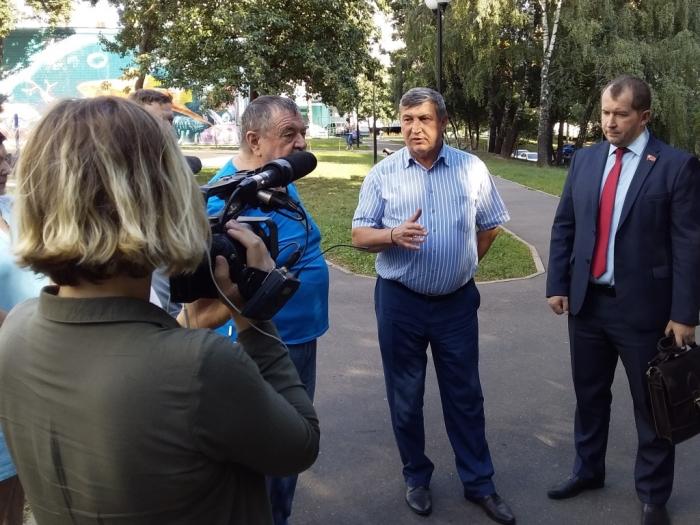 18 августа народный кандидат в Губернаторы Московской области от КПРФ К.Н. Черемисов посетил Ленинский муниципальный район.