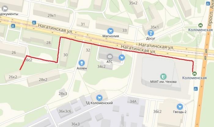Карта проезда до Московского областного отделения КПРФ