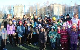 Василий Мельников открыл новую спортивную площадку в п. Лесной Пушкинского района
