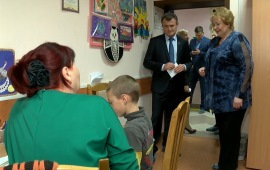 Депутат-коммунист посетил центр для детей с ограниченными возможностями в Ивантеевке