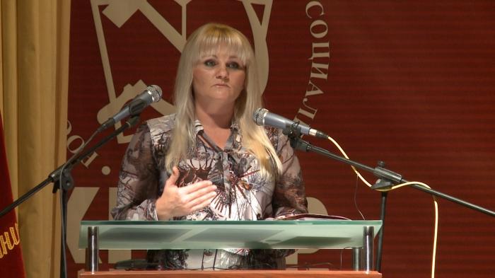 Выступление Елены Мокринской на 48-й отчётно-выборной Конференции МК КПРФ