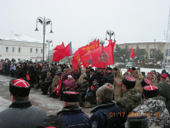 В Рузе на площади Партизан состоялся торжественный митинг