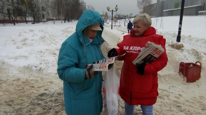 Пикет против мусорной реформы в Щёлково