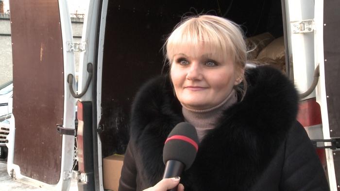 Интервью Елены Мокринской на отправке 78-го гуманитарного конвоя