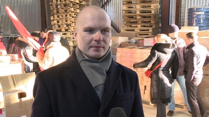 Интервью Александра Корнева на отправке 78-го гуманитарного конвоя