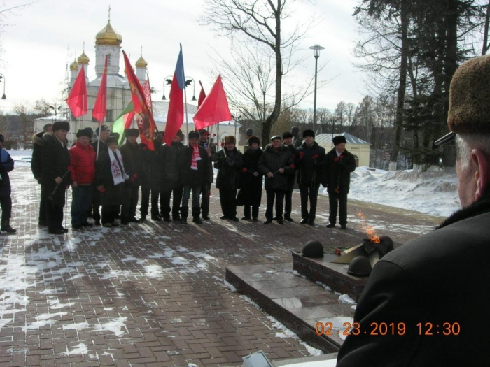 В Рузе отметили 101-ю годовщину РККА