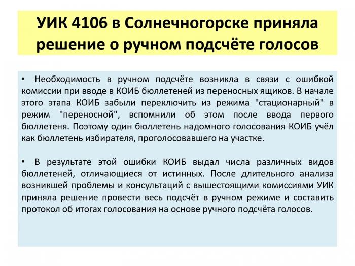 Выборы в Совет Депутатов г.о. Солнечногорск 14 апреля 2019 г.