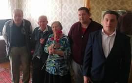 В Клину поздравили ветеранов с Днём Победы