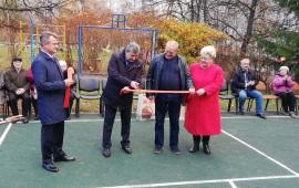 Константин Черемисов принял активное участие в открытии спортплощадки в детском саду во Фрязино
