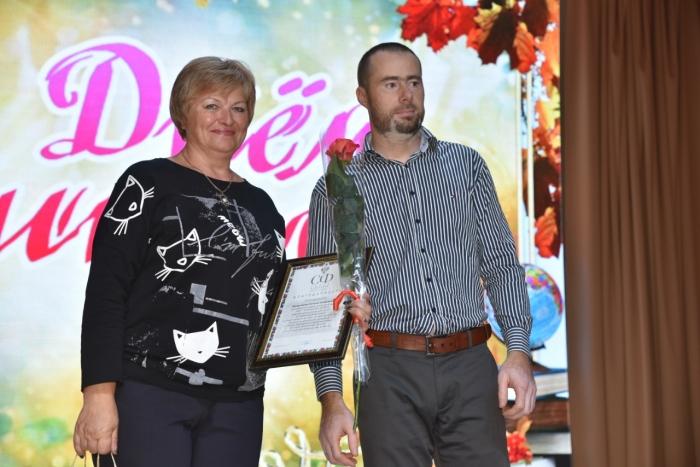 Клинские коммунисты приняли участие в праздновании Дня учителя