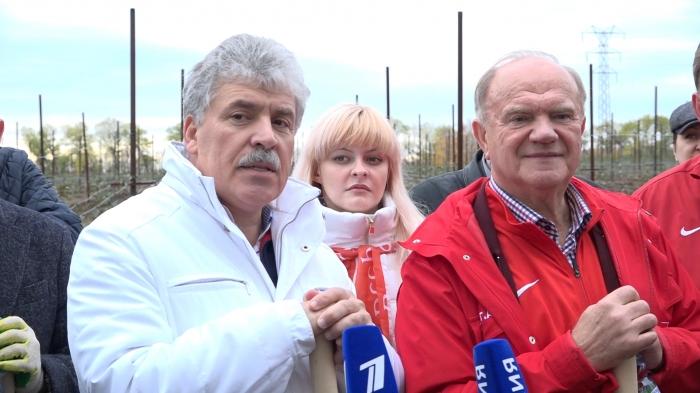 Павел Грудинин принял участие в акции «Сад Победы»