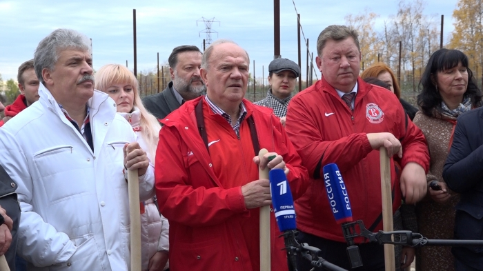 Генннадий Зюганов принял участие в акции «Сад Победы»