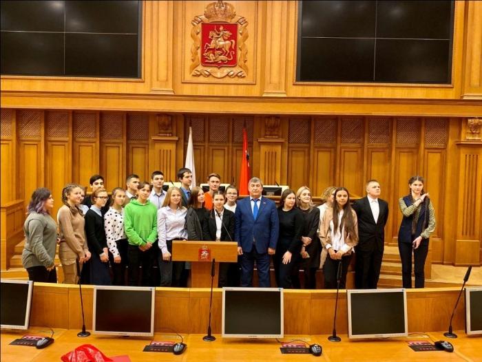 Константин Черемисов встретился со школьниками г.о. Можайск