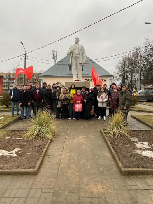 Клинские коммунисты почтили память Ленина