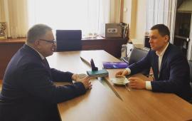 Александр Наумов провёл рабочую встречу с главой Дмитрова Ильёй Поночевным