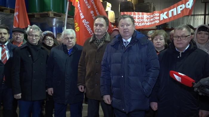 Выступление Владимира Кашина на отправке 84-го гуманитарного конвоя