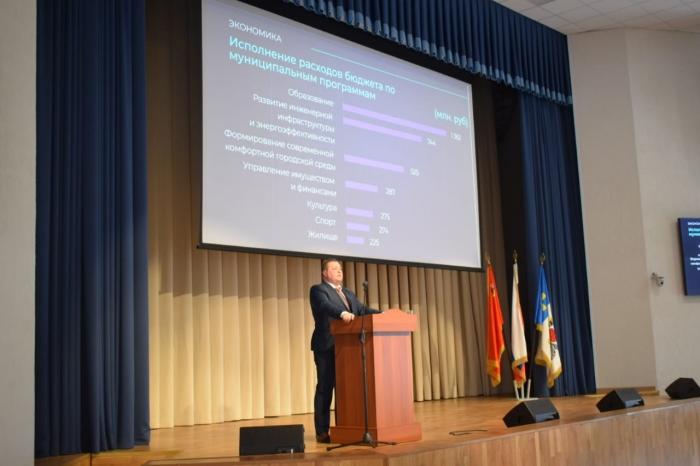 Александр Наумов принял участие в отчёте и.о. главы городского округа Кашира