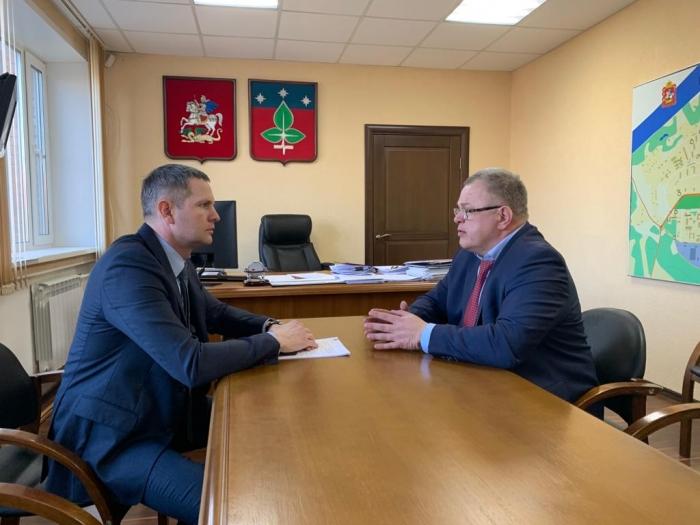 Депутат-коммунист Александр Наумов встретился с главой г.о. Пущино