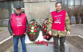 Возложение венков к памятникам В.И. Ленина в Ногинске