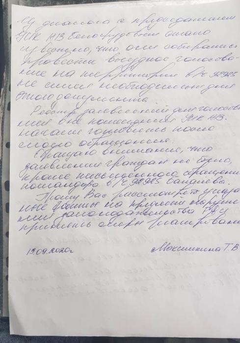 Нарушения на выборах в Наро-Фоминске