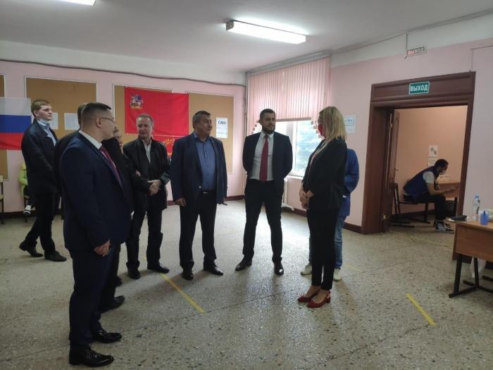 Второй секретарь МК КПРФ Константин Черемисов проконтролировал ход выборов в Балашихе