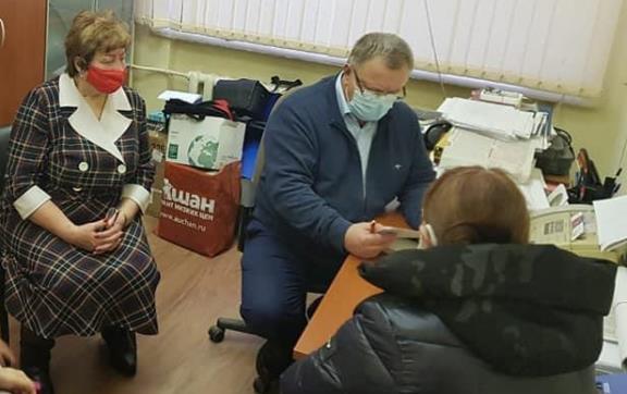 Депутат-коммунист Александр Наумов провёл приём жителей в Подольске