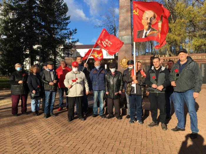 Коммунисты Рузы отметили 103-ю годовщину Великой Октябрьской социалистической революции