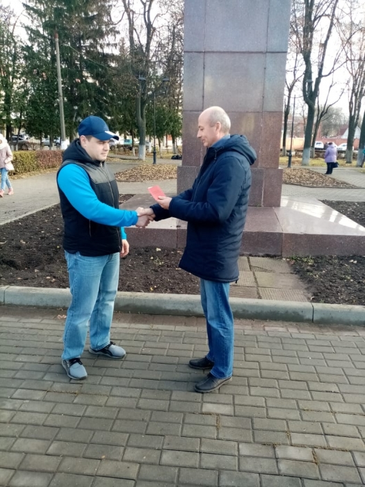 Зарайск: пополнение рядов в День Октябрьской революции