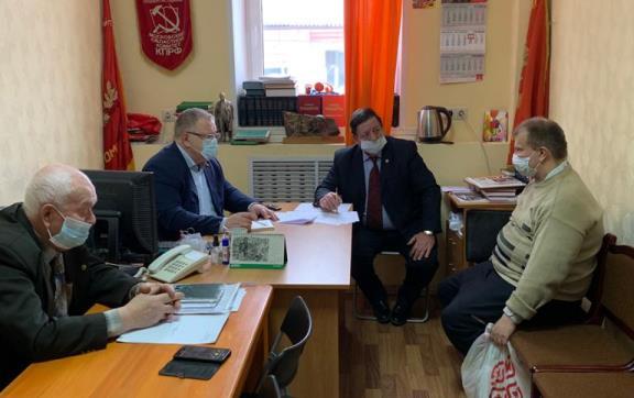 Депутат-коммунист Александр Наумов посетил с рабочим визитом Каширу