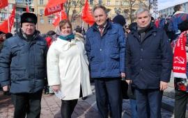 Люберецкие коммунисты и комсомольцы приняли участие в протестных акциях