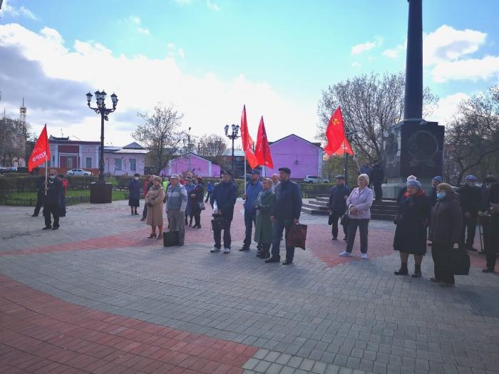 1 мая в Ногинске коммунисты провели митинг